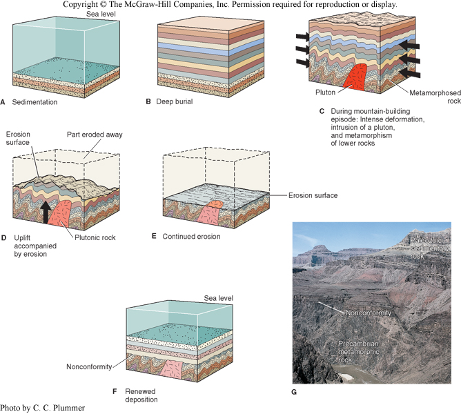basic principles for relative geologic dating